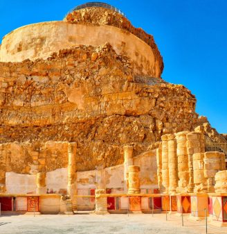 The Architecture Of Herod's Palace - Masada