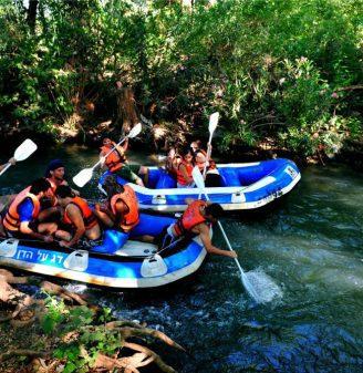 Kayaking and Rafting on the River Jordan