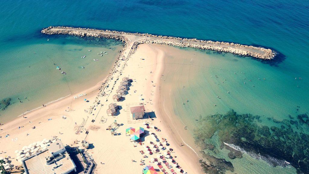 Hilton Beach, Tel Aviv Aerial View
