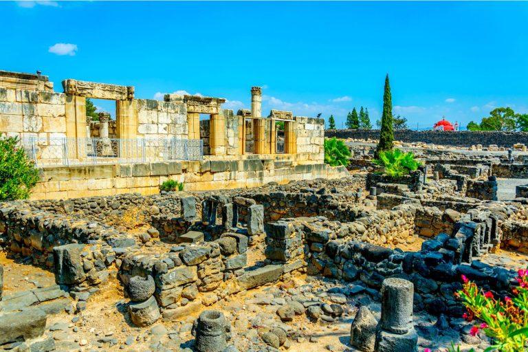 Christian Holy Land Four Day Tour - Capernaum Synagogue