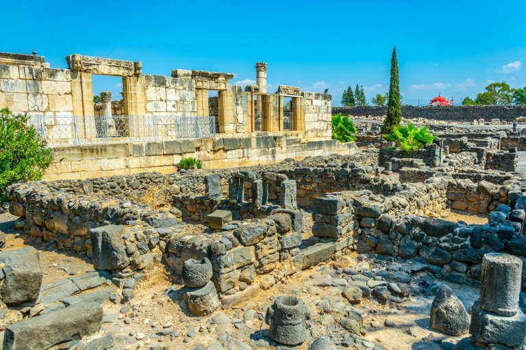 Christian Holy Land Seven Day Tour Capernaum Synagogue