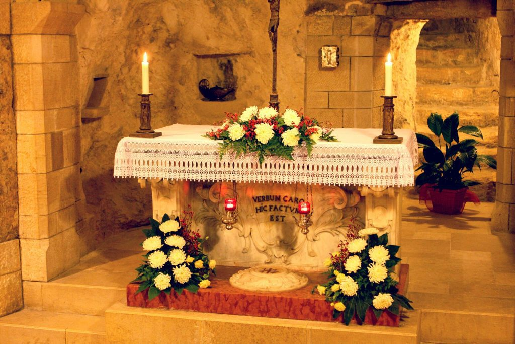The Incarnation of Jesus - Grotto of the Virgin Mary Basilica of the Annunciation