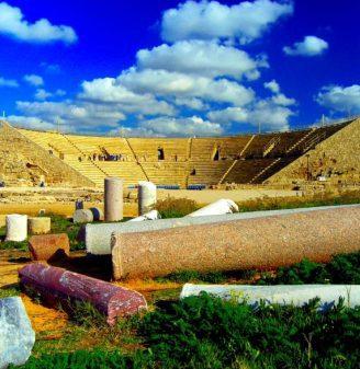 The Theatre at Caesarea Maritima With Pillars