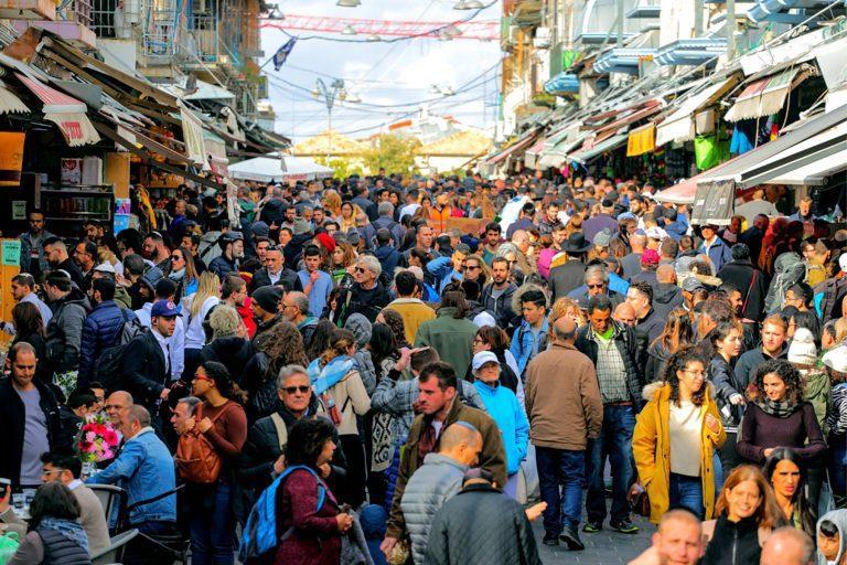 Old City Jerusalem Tour - Mahane Food Market - Crowd