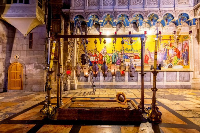 Old City Jerusalem Tour - Church of the Holy Sepulcher - Anointment Stone