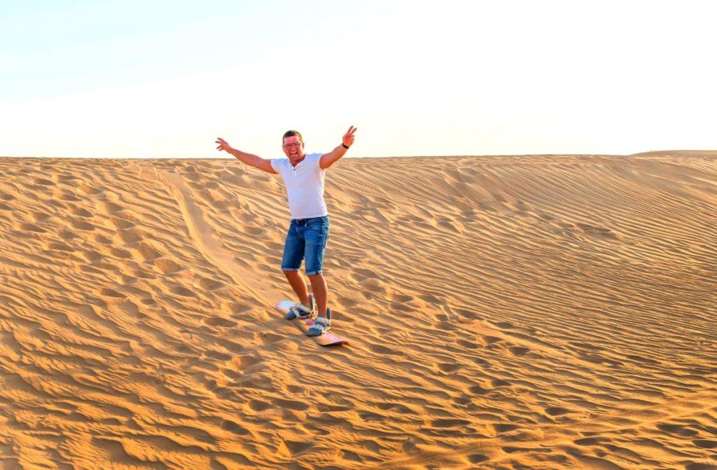 Sandboarding in Israel Sand Dunes