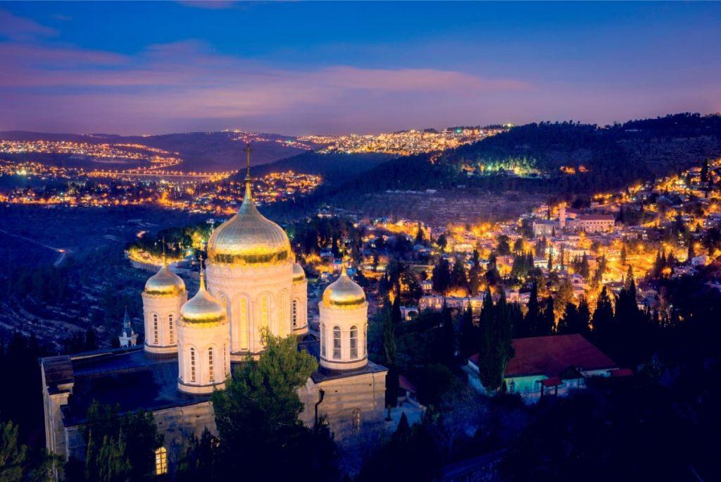 Key Sites in Jerusalem - Moscovia at Night