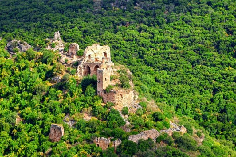 Galilee Day Tour - Monfort Castle Aerial