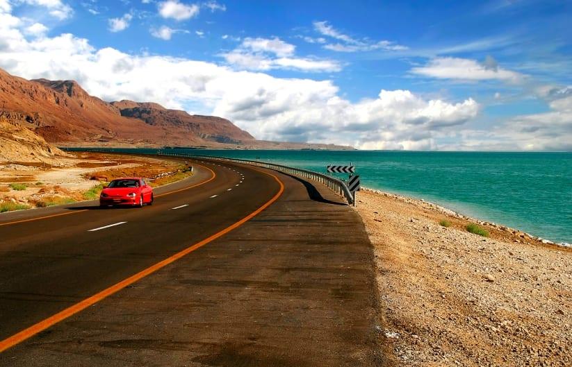 Driving in Israel Dead Sea