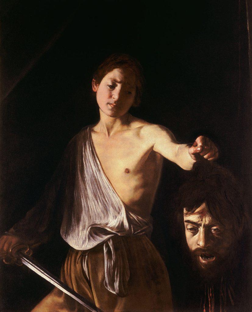 David With the Head of Goliath (Caravaggio, Rome)