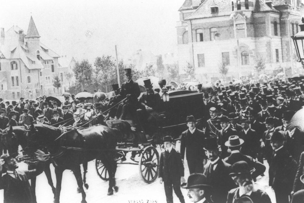 Theodor Herzl's Funeral in Vienna 7.7.1904