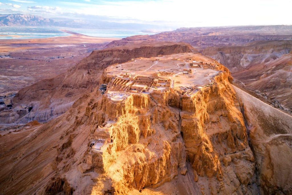 Let's Go and Private Tour Masada Aerial