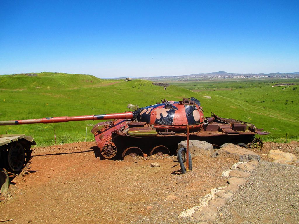 Valley of Tears Battle A Syrian-T-62-tank-in-Valley-of-Tears-memorial-on-Golan Heights