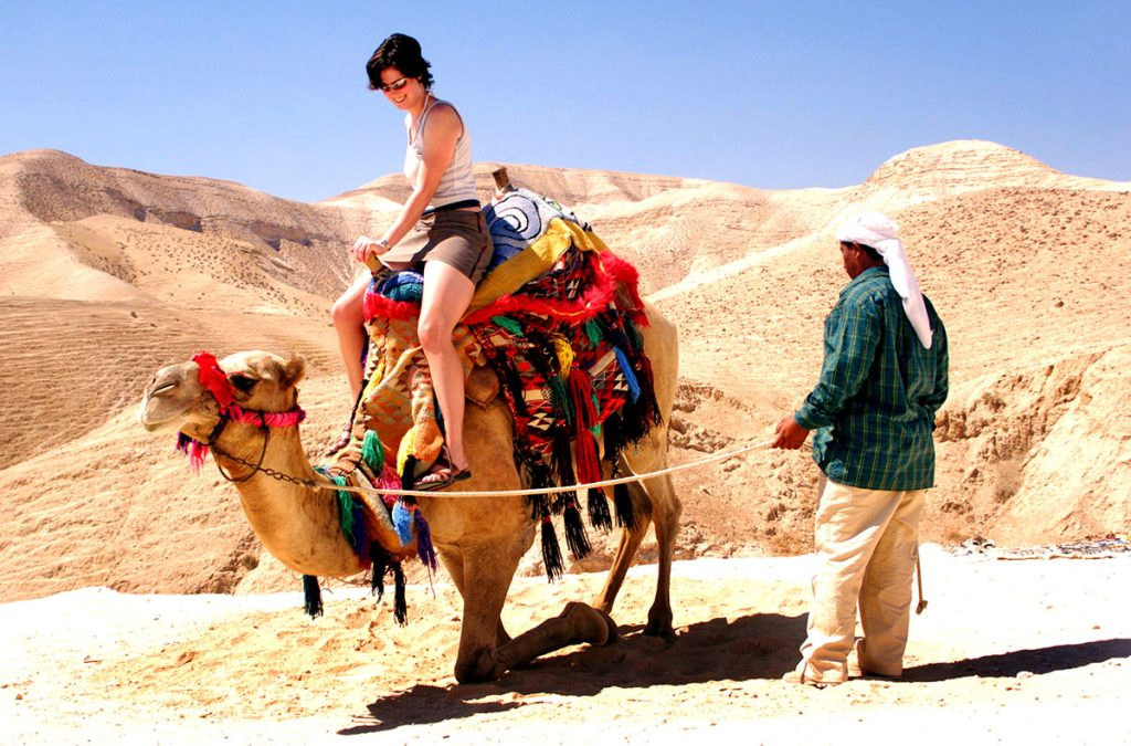 Best-Spot-for-a-Photo-on-Top-of-a-Camel-Dead-Sea