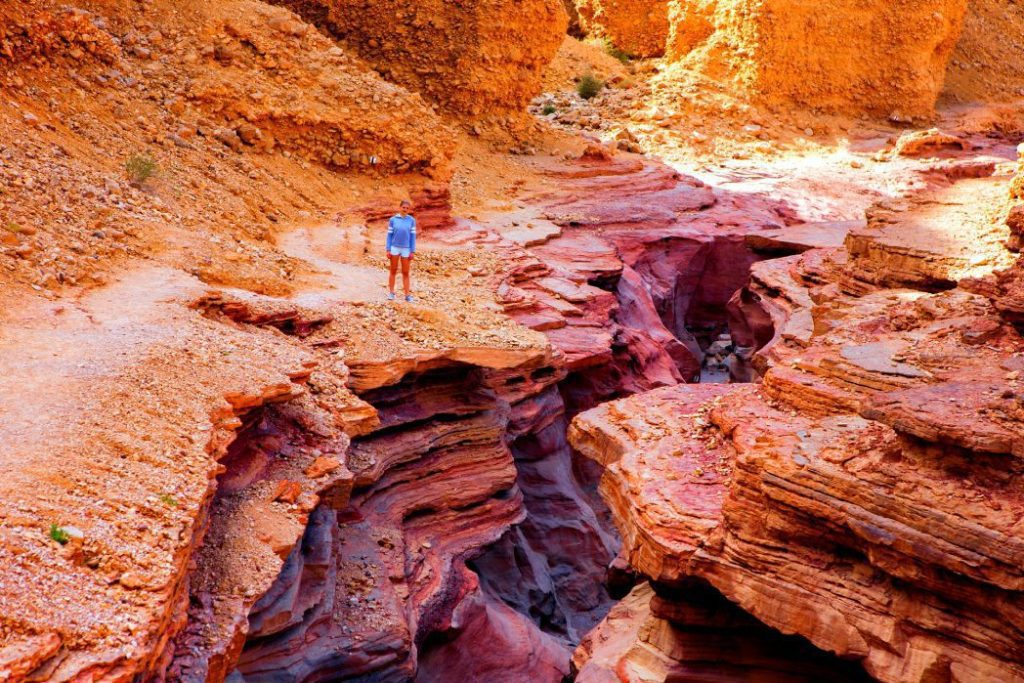 Red-Canyon-Eilat-Hiker
