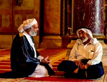 Two Arab Men Talking